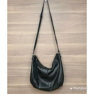 Margot Hobo Leather Bag with Tassel